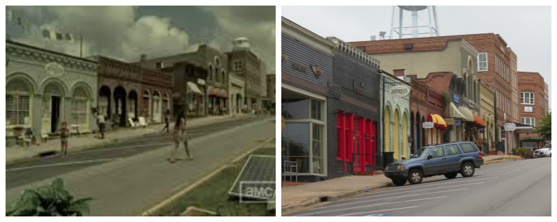 The Walking Dead filming locations Woodbury