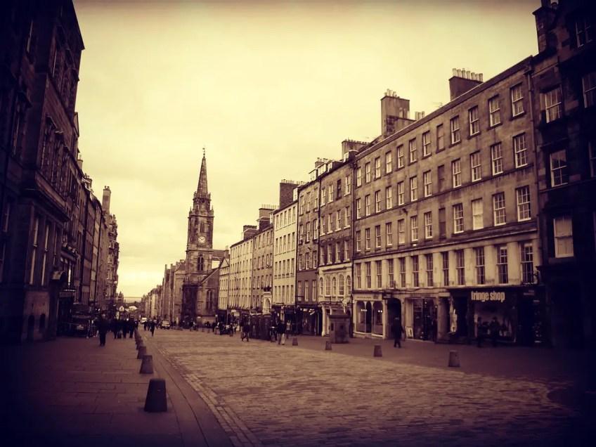 witch trials in the UK High Street Edinburgh