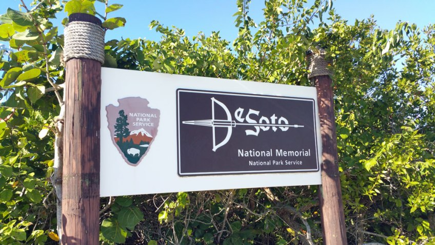 De Soto National Memorial Bradenton Florida, sign, native america in florida