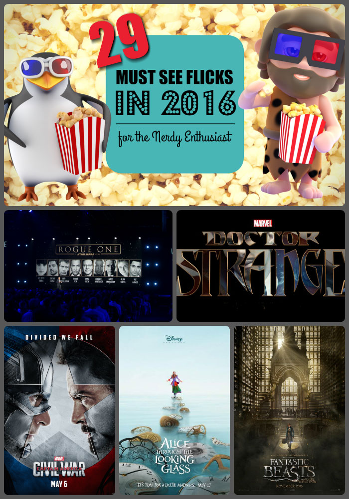 If you're a movie buff you should check out this roundup of 29 movies to see in 2016 with trailers