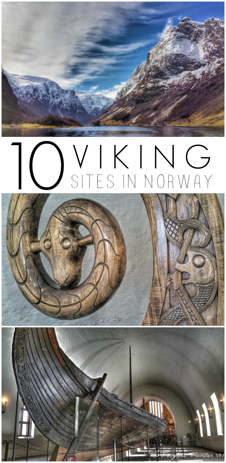 Viking sites in Norway pin