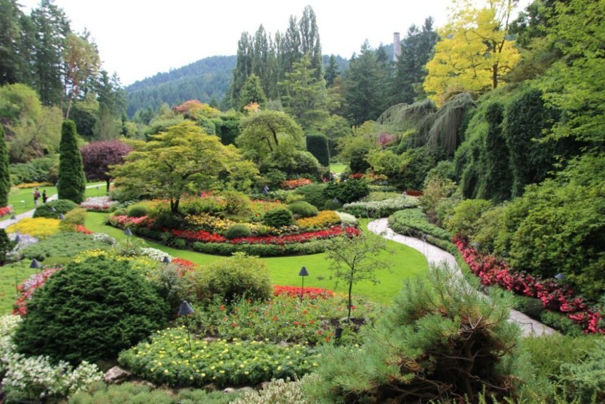 Beautiful gardens, Butchart Gardens BC Canada Photo source Patricia Burton