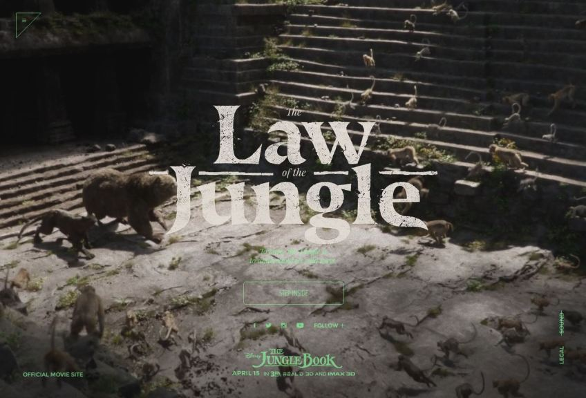 The Jungle Book website