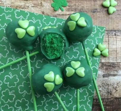 St. Patrick's Day Cake Pops, Cake Pops, recipe