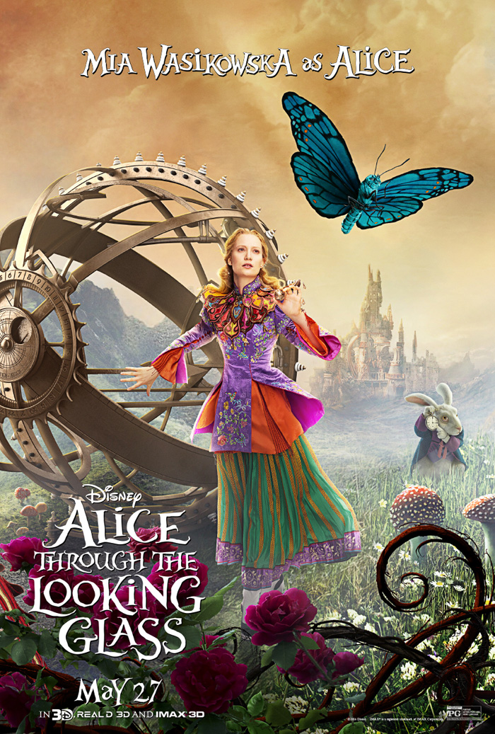 Alice, Alice through the looking glass poster