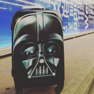 I packed more fun with the Darth Vader hard case carry on from American Tourister!
