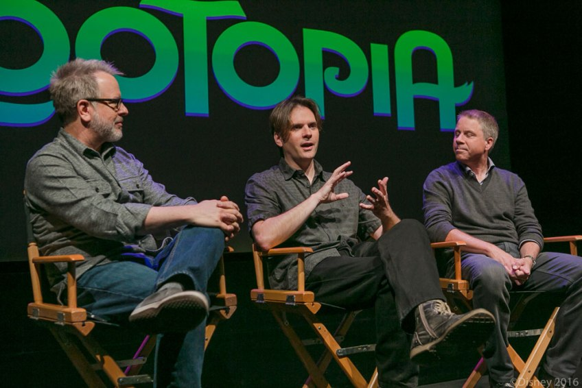 Rich Moore, Christa Thompson, Bryon Howard, Clark Spencer, Zootopia, Interview with the filmmakers of zootopia