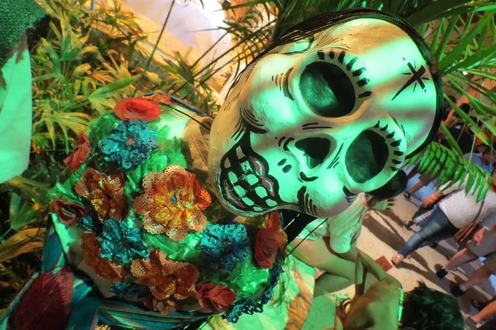 Day of the Dead vacation, Xcaret, Mexico, dia de los muertos, skeleton