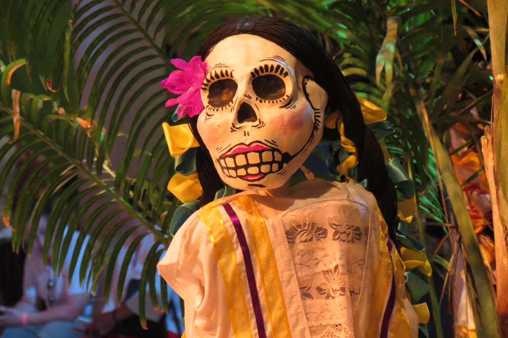 Day of the Dead vacation, Xcaret, Mexico, dia de los muertos, skeleton