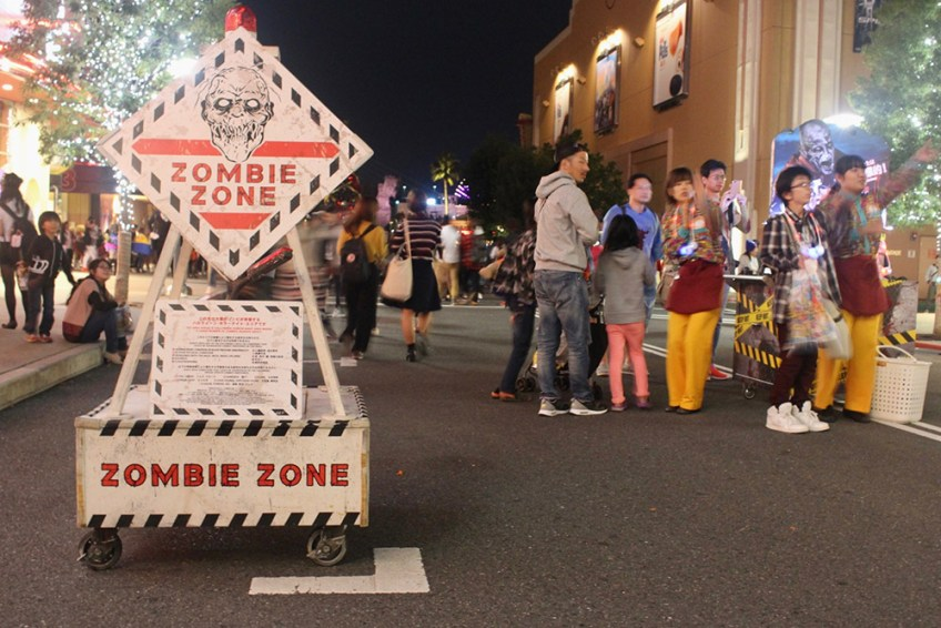 USJ Halloween 2016 zombies, Halloween at Universal Studios Japan