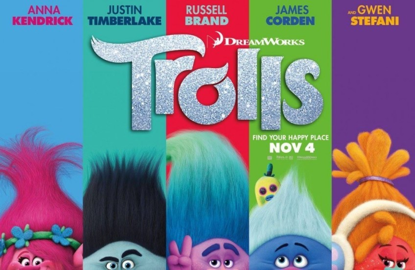 trolls poster, trolls movie