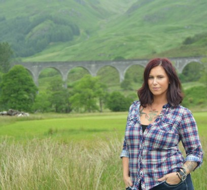Christa Thompson, Glenfinnan Viaduct, Scotland, traveling alone