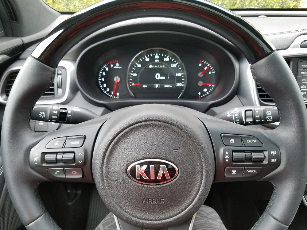 skiing for the first time, kia sorento dashboard