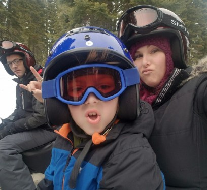 Snowmobiling for the first time, christa thompson, gauge rybak, kidfriendly, sean overstreet