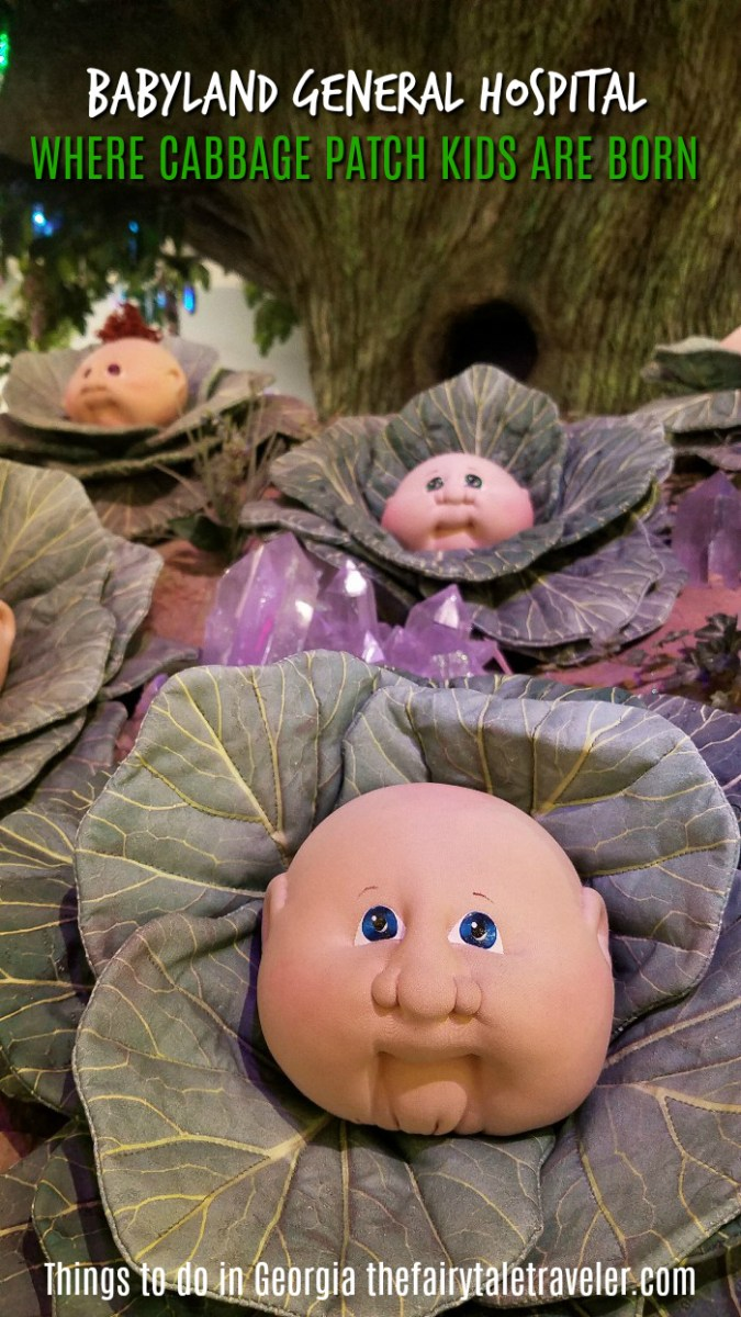 babyland general hospital, helen, day trips from Atlanta, cabbage patch kids pin