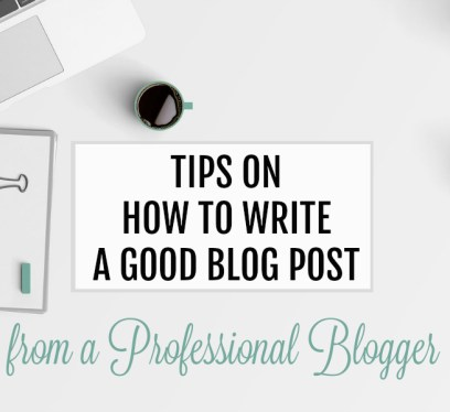 Write a good blog post tips features image.