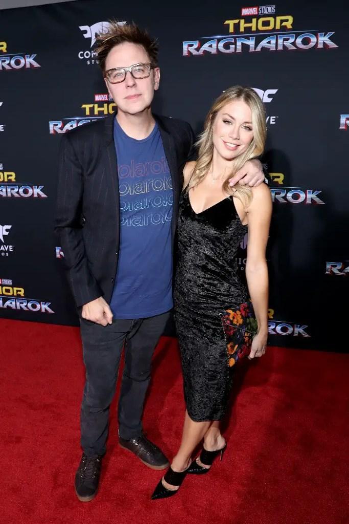 Thor: Ragnarok LA Premiere, James Gunn and Jennifer Holland