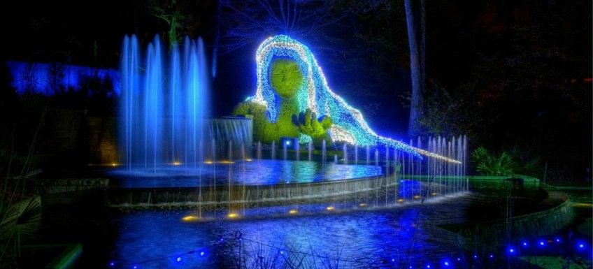 Things to do in Atlanta for Christmas, magical gardens