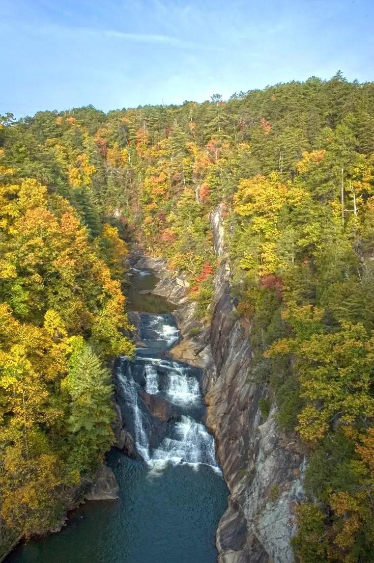 Fall in Georgia State Parks - Tallulah Gorge Hurricane Falls