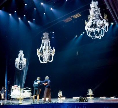 Cirque du soleil Corteo, backstage