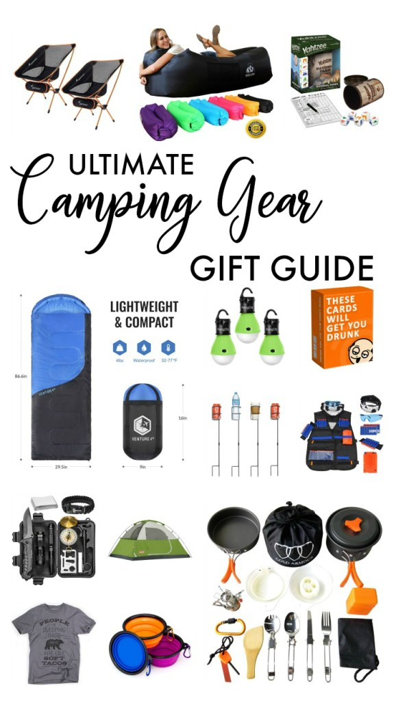 Camping gear gift guide, what to bring camping, camping gear