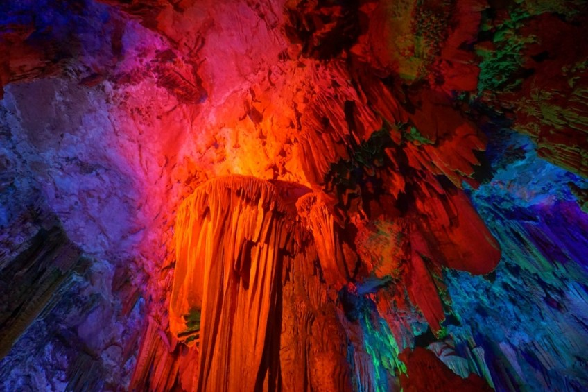 Reed Flute Cave, Underground caves