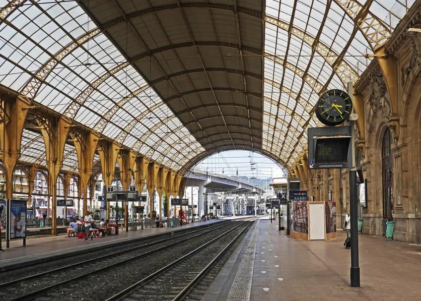 train station, nice, france