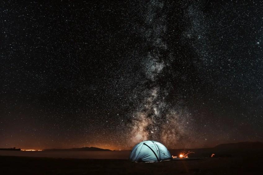 camping night sky