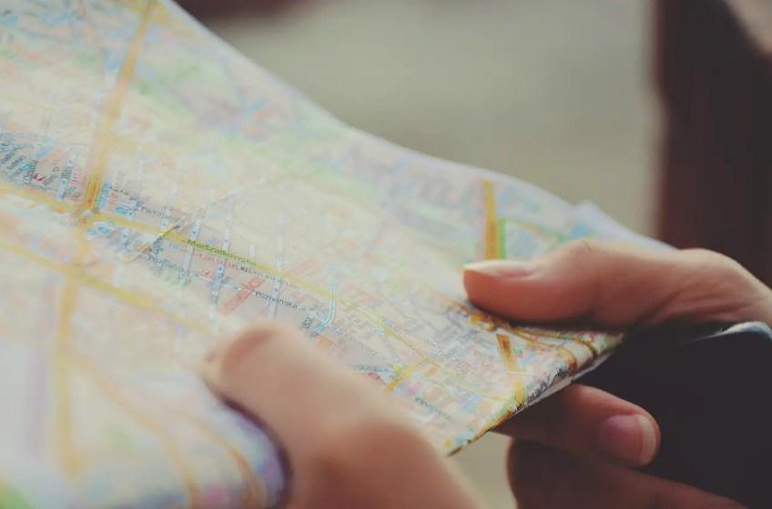 map, tourist