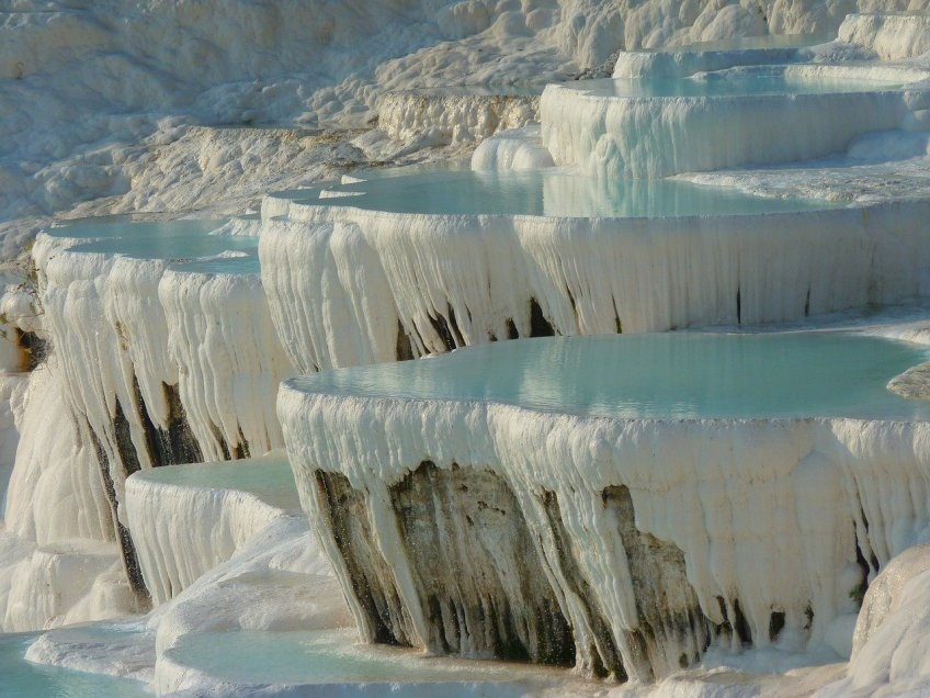 pamukkale, turkey, weird places in the world