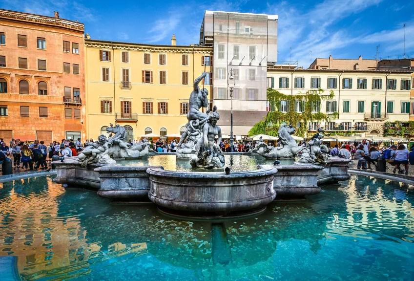 Piazza Navona fountain, Italy