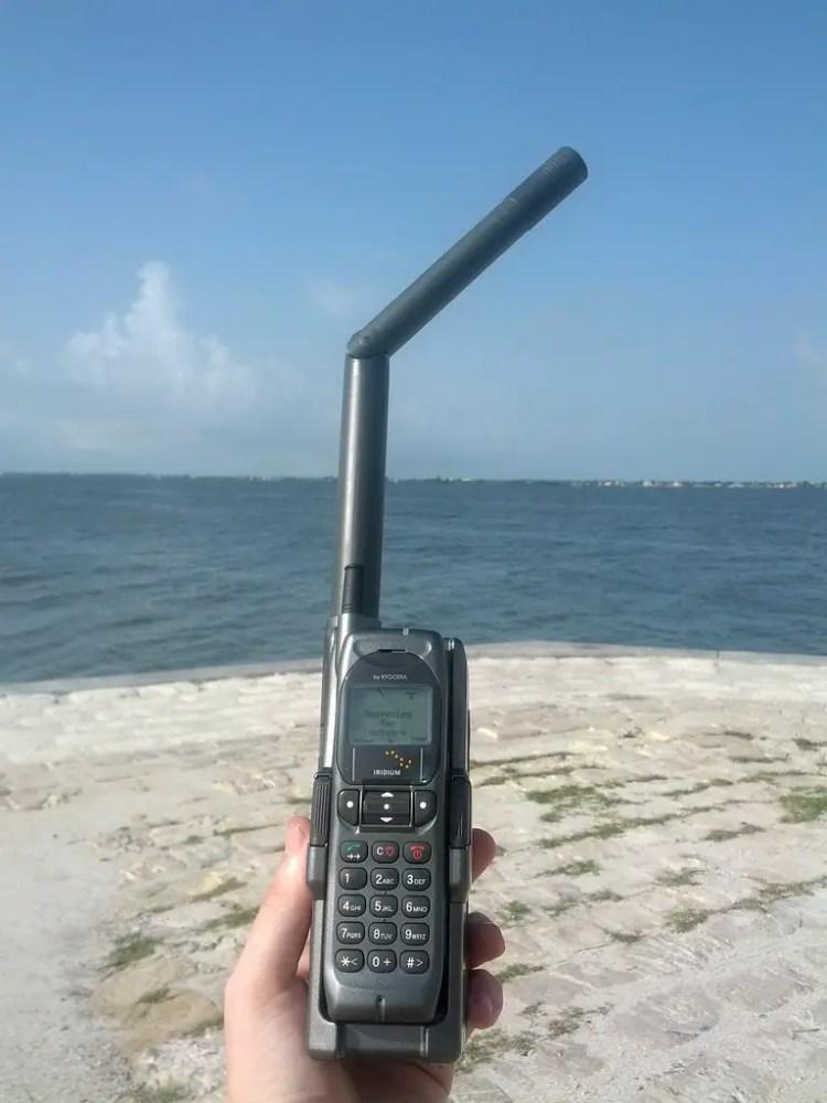 camping trip, satellite phone