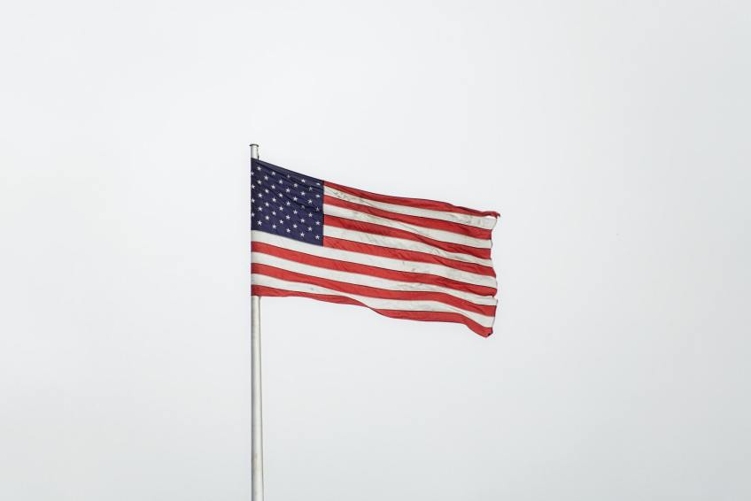 American flag, US, embassy