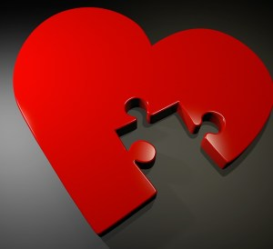 loosing a loved one, heart missing a piece