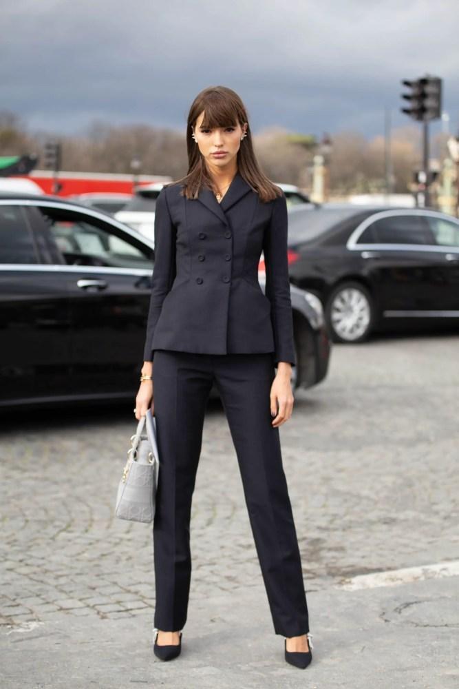 woman, suit
