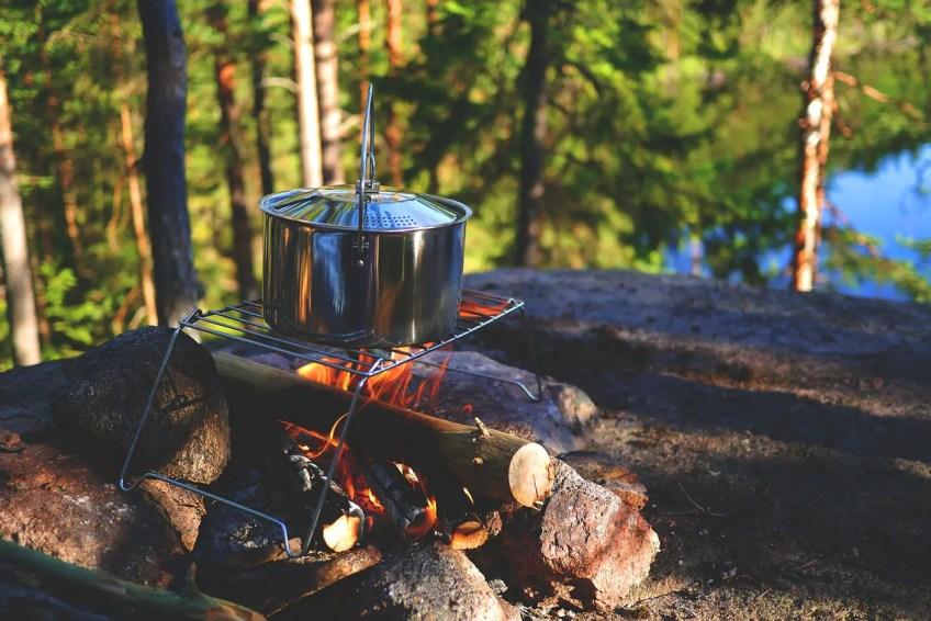 Campfire Rack, Camping Pot