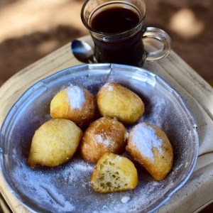 Ginger Coffee and Doughnuts for Breakfast in Khartoum, Sudan