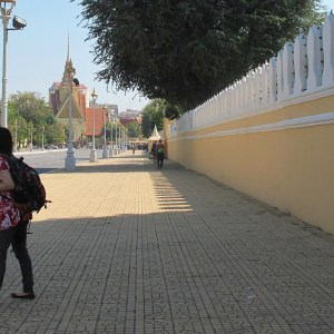 Poonnatree during her field research in Phnom Penh, Cambodia.