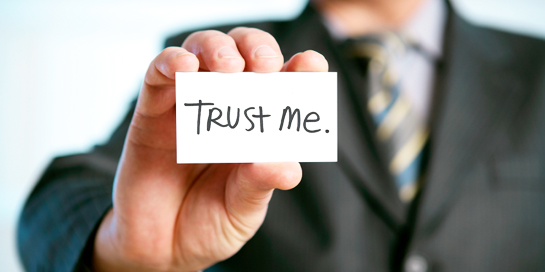 How do you know who you can trust? You listen & then decide like a Man.