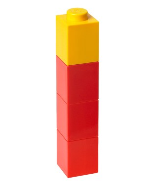 Red & Yellow LEGO Square Lidded Drink Bottle