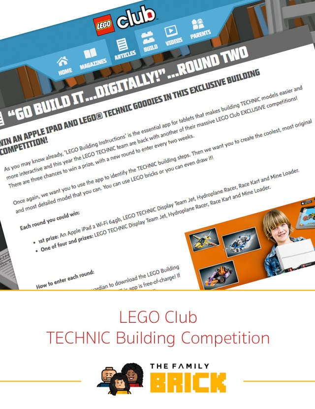 LEGO Club TECHNIC Building Competition - The Family Brick