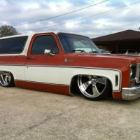 Chevy C-10 Blazer bagged on 24's