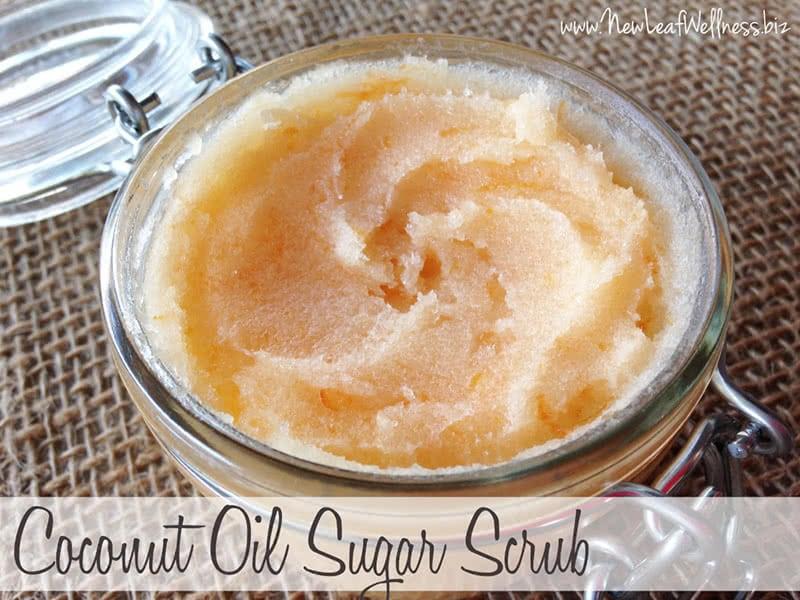 Homemade Coconut Oil Sugar Scrubs   The Family Freezer