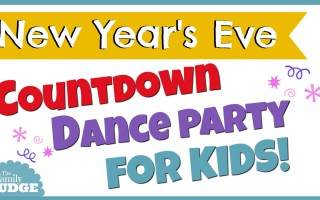 New Years Eve Countdown to Midnight Dance Party (anytime) For Kids || New Years Activities With Kids