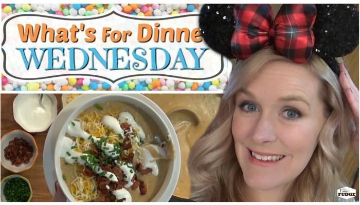 LOADED BAKED POTATO SOUP    Copycat Disneyland Recipe    What's for Dinner Wednesday