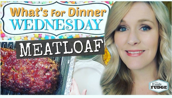 SWEET GLAZED MEATLOAF || What's for Dinner Wednesday