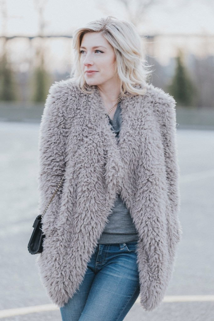 Billabong Do It Fur Love Faux Fur Coat - The Family Jewels
