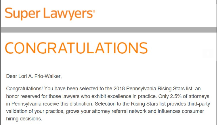 Lori A Walker, Top SuperLawyer in Family Law Philadelphia, Pennsylvania, Main Line