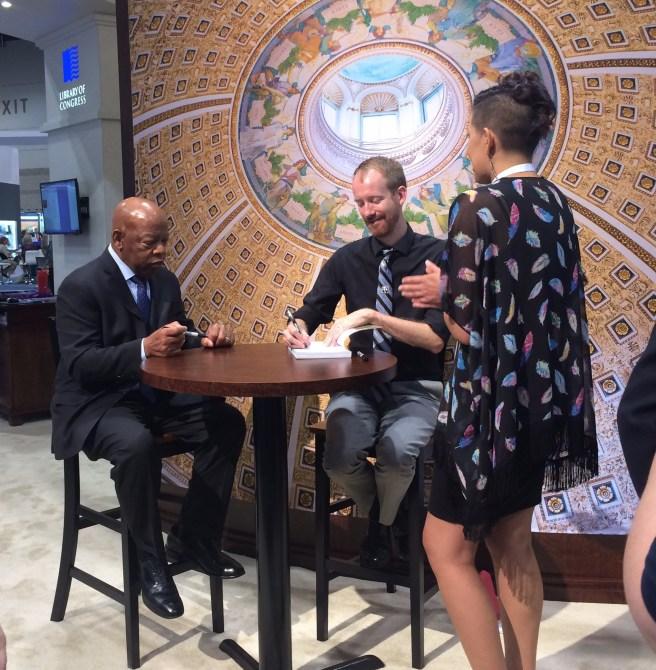 John Lewis signing books at ALA