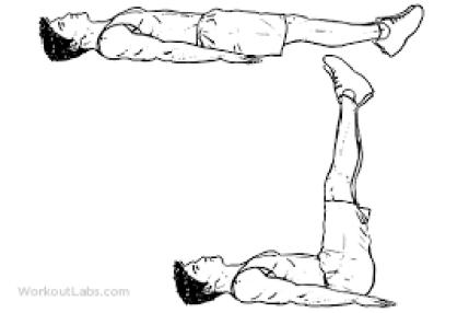 melakukan lying leg raises